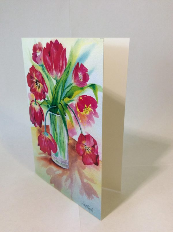 "Kunstkarte & Grußkarte ""Tulipan"" der Künstlerin Gomez Rueda"