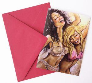 Gomez Rueda - Karten, Grußkarte Happy People 3