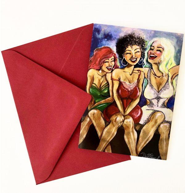 Gomez Rueda - Karten, Grußkarte Happy People 4
