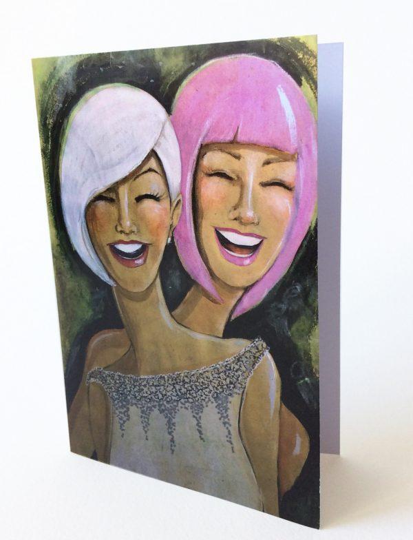 Gomez Rueda - Karten, Grußkarte Happy People 5
