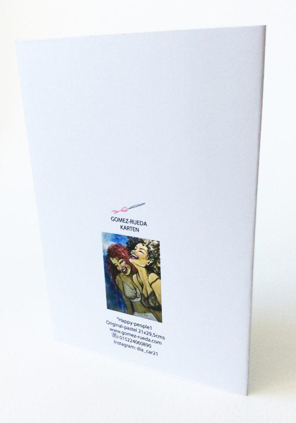 Gomez Rueda - Karten, Grußkarte Happy People 1 Rückseite