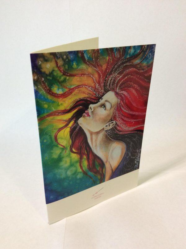 Gomez Rueda - Karten, Grußkarte Mujer Peliroja