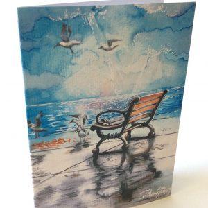 """Kunstkarte & Grußkarte """"Silla"""" der Künstlerin Gomez Rueda"""
