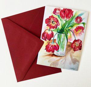 Gomez Rueda - Karten, Grußkarte Tulipan