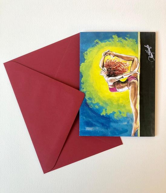 Grußkarte Stretching, Kunstkarte Stretching, Gruß- und Kunstkarten, Gomez Rueda Karten