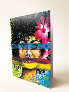 Kunstkarte & Grußkarte Melanina der kolumbianischen Künstlerin Gomez Rueda aus Köln