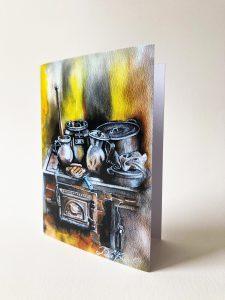 Kunstkarte & Grußkarte Aguapanela der kolumbianischen Künstlerin Gomez Rueda aus Köln