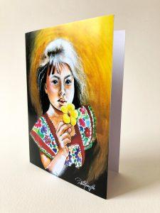 Kunstkarte & Grußkarte Aristapurapia der kolumbianischen Künstlerin Gomez Rueda aus Köln